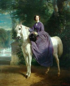 Empress of the French, equestrian portraits by Charles-Édouard Boutibonne, 1856