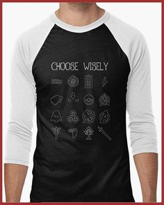 Wear your fandom loud and proud!! For the fan of everything geeky and nerdy, here is our Whats your Fandom? baseball 3/4 sleeve Shirt    Sizing