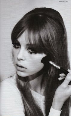 60's make-up on edie campbell. For more inspiration visit www.raspberrywedding.com