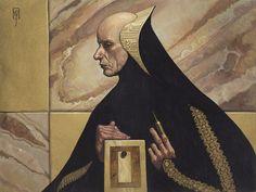 "Art by Mark Zug keeps-sinking: ""Sandrider Otheym Stilgar, Sister Ramallo Reverend Mother Gaius Helen Mohiam Thufir Hawat, Remy Egusku Wierding Embassy dune. """