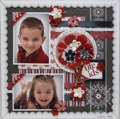 Scrapbook page red & black