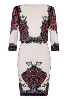 1abe6accc76 Forever Unique Laurie Jacquard Printed Dress - Ivory Forever Unique
