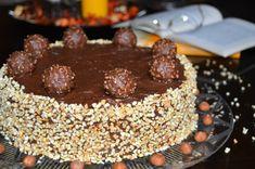 Tort Ferrero Rocher | MiremircMiremirc Ferrero Rocher, Pastry Cake, Pudding, Desserts, Food, Cakes, Tailgate Desserts, Deserts, Patisserie Cake