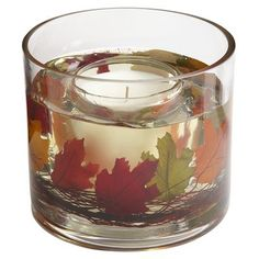 Autumn Leaves Gel Candle...gel candles are great!