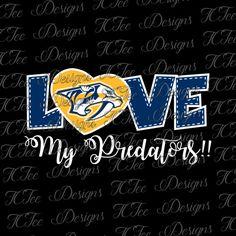 Love My Preds - Nashville Predators - Hockey SVG File - Vector Design Download - Cut File