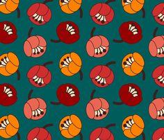 tulip field fabric by oleynikka on Spoonflower - custom fabric