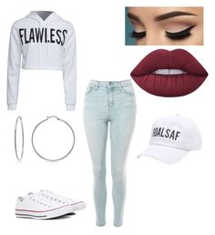 """""""Untitled #482"""" by ewalciar on Polyvore featuring WithChic, Topshop, Lime Crime, Charlotte Russe, Evie & Emma and Converse"""