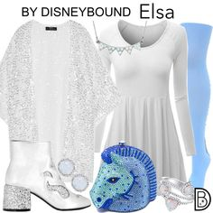 Disneybound Elsa from Frozen 2 Disney Themed Outfits, Disney Dresses, Frozen Fashion, Disney Fashion, Disneybound Outfits, Disney Frozen Elsa, Disney Princess, Disney Artwork, Tights And Boots