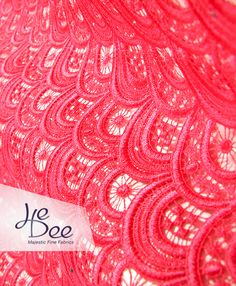 HeDee Majestic Fine fabrics - Guipure in Strawberry