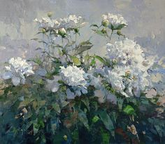 Peonies. Morning - Alexi Zaitsev - Sale of paintings and other art works