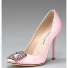 Manolo Blahnik pink heels (featured in Sex and the City One)!