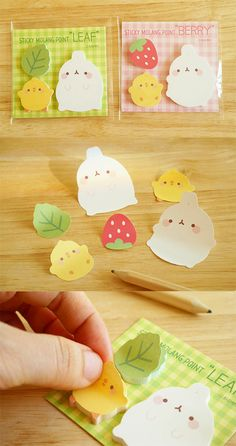 The cutest way to index, memo and decorate! Let this little chubby friends make you happy! Cool Stationary, Stationary Supplies, Kawaii Stationery, Stationery Items, Cool School Supplies, Office Supplies, Filofax, Cute Pens, Molang