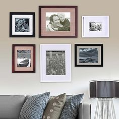Transform your wall into an instant gallery of your favorite photos with this exquisite portrait frame set from Real Simple. This gorgeous set features a variety of frames and elegant mattes in very stylish colors.