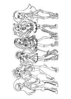 Monster High Coloring Pages Book