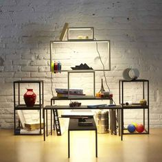 Adore these new LED tables from Santa and Cole. Great for retail and home organization (of which I lack somewhat). http://web1.unicahome.com/p70411/santa-and-cole/blancowhite-led-tables-by-santa-and-cole.html