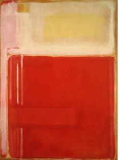 "Mark Rothko, No. 8, 1949,  ""...art to me is an anecdote of the spirit, and the only means of making concrete the purpose of its varied quickness and stillness."""