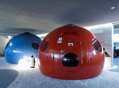 My office could be a space pod! Google offices in Zurich.