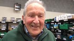 Frank Chester is working a three-hour shift at his local food bank on his 100th birthday.