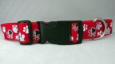 Paw Prints Dog Collar Handmade
