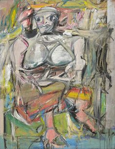 [p. 278] Willem de Kooning (American, born the Netherlands. 1904–1997). Woman, I, 1950–52. Oil on canvas; 192.7 x 147.3 cm. New York: MoMA, 478.1953. Found by: Prof. De Young