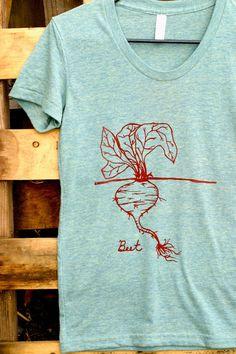 Women's beet t-shirt – hand drawn, screen printed