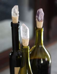 DIY: jeweled crystal wine stoppers