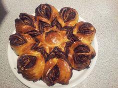 7 - Baking - Food - the finish Nutella star cake - Yammie :D Star Cakes, Nutella, Chicken, Meat, Baking, Food, Bakken, Eten, Bread
