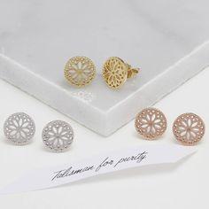 Purity Mandala Stud Earrings