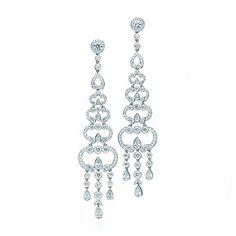 Diamond chandelier earrings 5425 18k white gold chandelier diamond chandelier earrings aloadofball Images