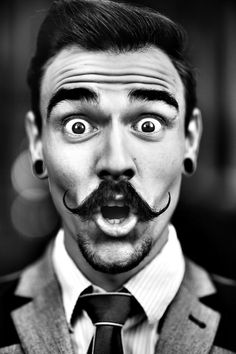 Loooove this!! Lovin his mustache and gauges!!