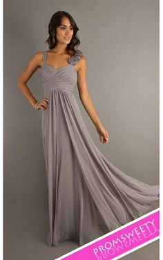 Dancing Queen Ruched Long Formal Silver Prom Dress 8115