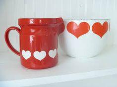Red Heart Enamel Bowl by Kaj Franck for Arabia ~ Mary Wald's Vintage Place Vintage Love, Vintage Kitchen, Enamel, Mugs, Finland, Tableware, Google Search, Heart, Woodland Forest