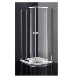 Mampara de ducha Semicircular. Disponibles en 80x80 o 90x90 en transparente o trazos.