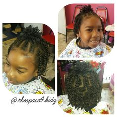Protective styling two strand twist - - Protective styli Cute Hairstyles For Medium Hair, Baby Girl Hairstyles, Natural Hairstyles For Kids, Kids Braided Hairstyles, Medium Hair Styles, Natural Hair Styles, Kids Hairstyle, Fun Hairstyles, Toddler Hairstyles