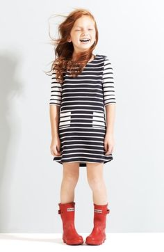 Tucker + Tate Knit Dress & Hunter Packable Rain Boot (Little Girls & Big Girls)  available at #Nordstrom