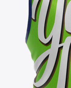 Soccer Bib Mockup - Back View Close-Up