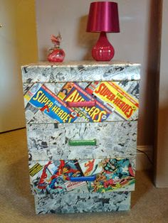 Genial **RETRO MARVEL COMICS BEDROOM DRAWERS FEATURING SPIDER MAN**