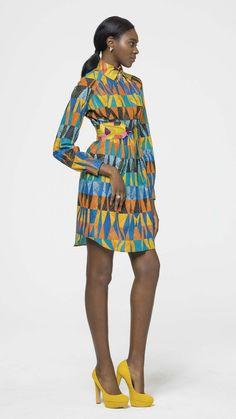 Chic & sleek - Vlisco V-Inspired African Dresses For Women, African Print Dresses, African Attire, African Wear, African Women, African Prints, African Inspired Fashion, African Print Fashion, Africa Fashion