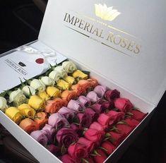 flowers, rose, and luxury image Flower Box Gift, Flower Boxes, My Flower, Rosen Arrangements, Floral Arrangements, Bouquet Box, Box Roses, Beautiful Rose Flowers, Flower Shops