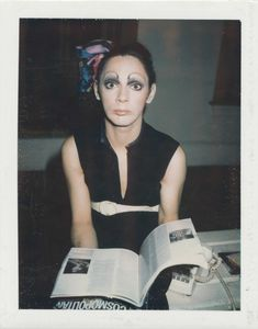 ANDY WARHOL Holly Woodlawn unique polaroid print mounted on board x 3 in. x cm. Holly Woodlawn, Candy Darling, Andy Warhol, Transgender, Fashion Models, People, Beauty, Polaroid, Color