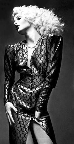 Donna Jordan in Yves Saint Laurent, photo by Guy Bourdin for Vogue Paris, January 1971