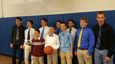Proud of the way our 8th grade basketball team comes to school dressed like professionals #byrampride