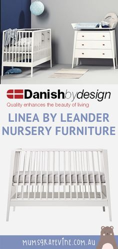 We take a look at the contemporary nursery collection from Linea by Leander, featuring their classic cot and the new side by side bassinet. Leander Cot, Nursery Set Up, White Cot, Bedside Bassinet, Nursing Chair, Junior Bed, Cots, Nursery Furniture, Kid Beds