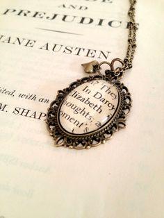 Elizabeth and Mr. Darcy Pride and Prejudice Book. I'd wear it.