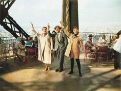 Audrey Hepburn, with Fred Astaire, on top of the Tour Eiffel in Funny Face, Audrey Hepburn Funny Face, Audrey Hepburn Movies, Audrey Hepburn Photos, Tour Eiffel, Fred Astaire Movies, Faces Film, Harper's Bazaar, Star Wars, Breakfast At Tiffanys