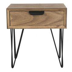 Mesa de noche Volendam 1 cajón madera marrón