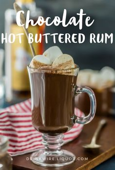 You may have had Hot Buttered #Rum before, but have you ever had #Chocolate involved? This sweet and tasty #holiday cocktail will warm you and your heart up!