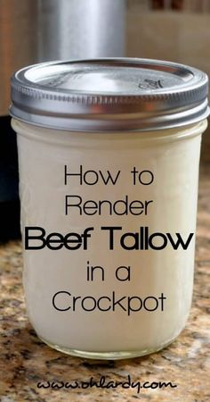 How to Render Beef Tallow in a Crockpot. This healthy, traditional, nourishing fat is easy to cook with and makes food taste delicious. Tallow is also good for making skin care products such as lip balm, skin salves and deodorant. - Oh Lardy Butter Buds, Whole Food Recipes, Healthy Recipes, Healthy Food, Healthy Eating, Beef Tallow, Nourishing Traditions, Eat Fat, Health Desserts