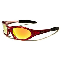 X-Loop Mens Plastic Wrap Around Stylish Sports Sunglasses Cherry with Yellow Glasses Red Sunglasses, Sports Sunglasses, Plastic Wrap, Wrap Around, Cherry, Yellow, Stylish, Men, Shrink Wrap