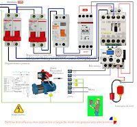 Esquemas eléctricos: Bomba monofasica mas contactor y boya de nivel con...